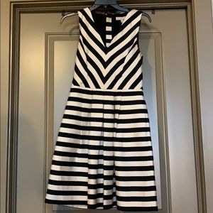 Black and White Striped Banana Republic Dress
